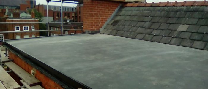 Rubber Roof & Pointed Chimney Stack Chester
