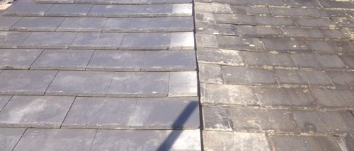 Bonding Gutter Slate to Tile in Chester - Almost Complete