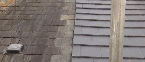 Bonding Gutter Slate To Tile In Chester Flintshire Roofing