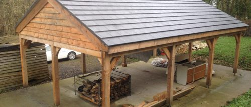 Log Shed Roof After in Flintshire